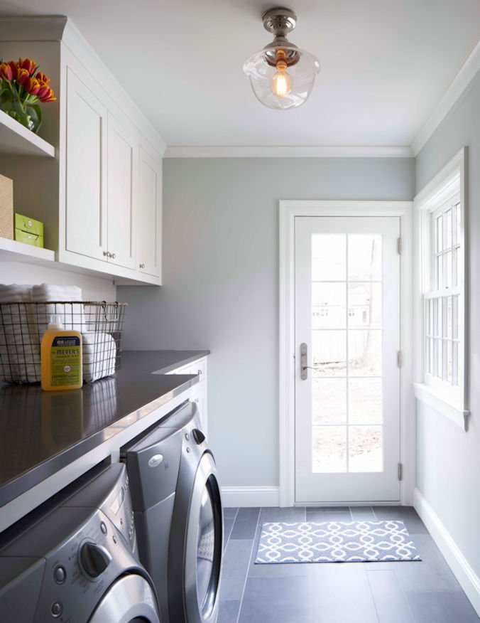 Meadowbrook Cottage mudroom Remodel by Charlie & Co. Design