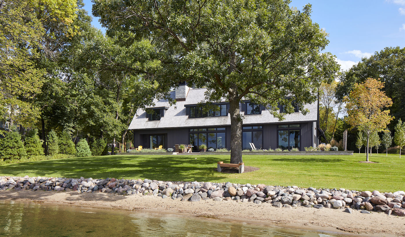 Lake Minnetonka Modern Salt Box by Charlie and Company Design