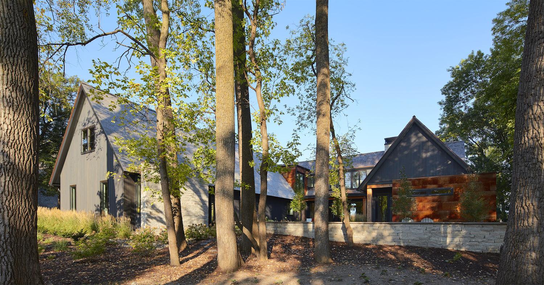 Lake Minnetonka Modern Salt Box by Charlie and Company Design backyard