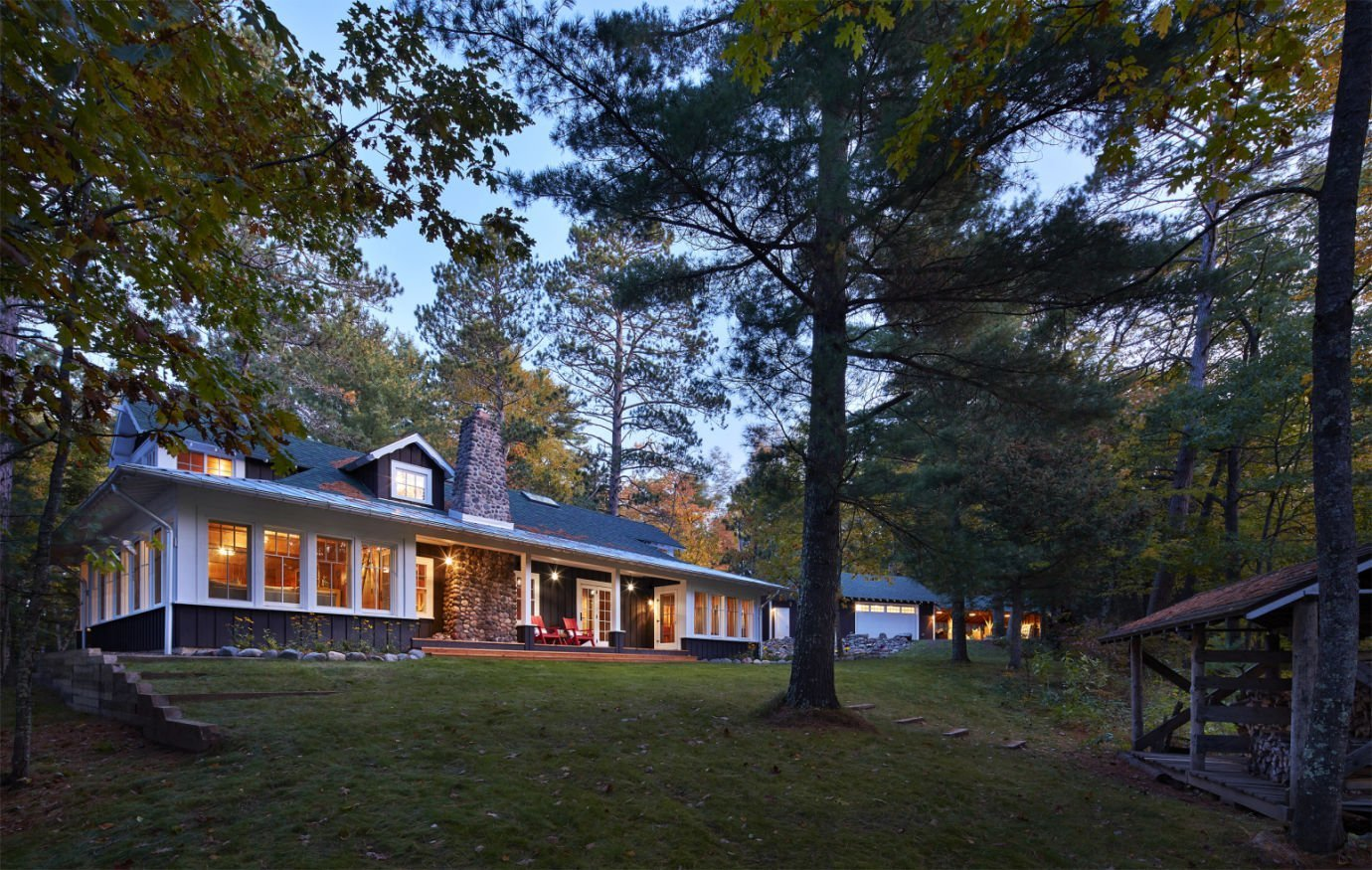 Cable Wisconsin Retreat architectural design by Charlie & Co. Design