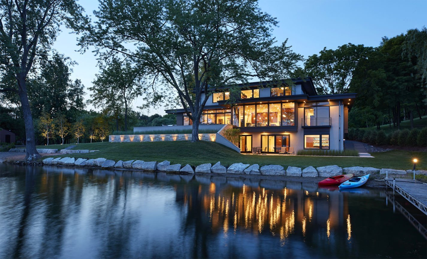 Christmas Lake Contemporary style home designed by Charlie & Company