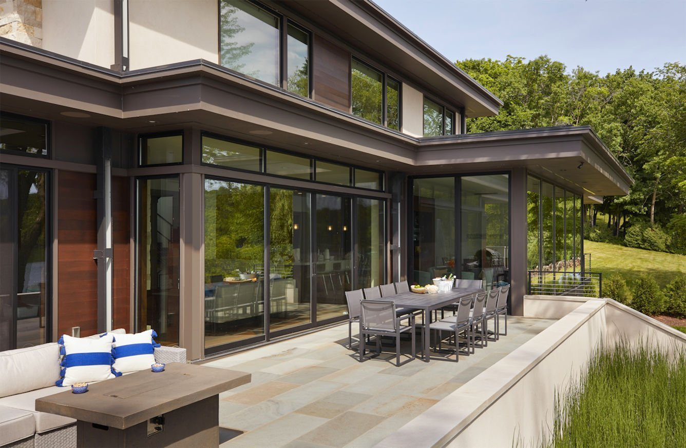 Christmas Lake Contemporary patio