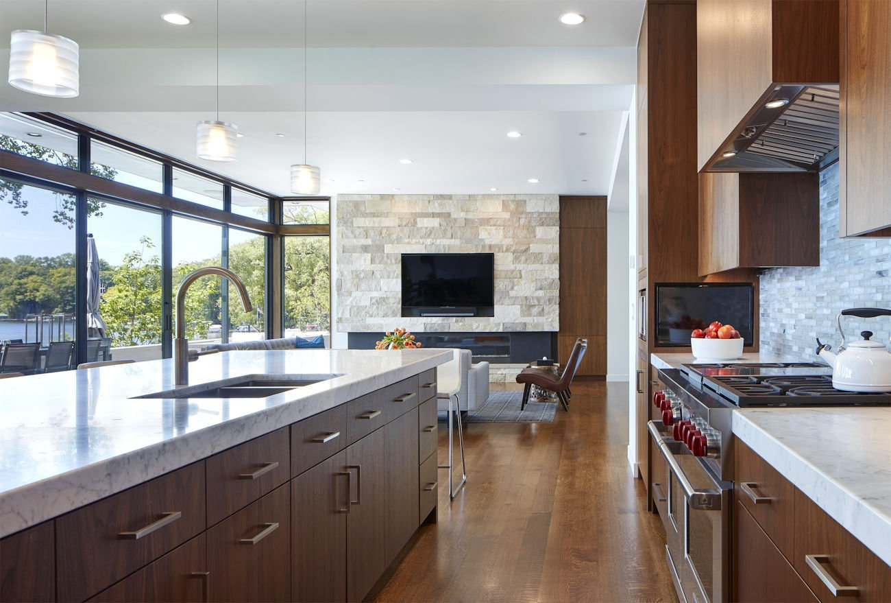 Christmas Lake Contemporary kitchen