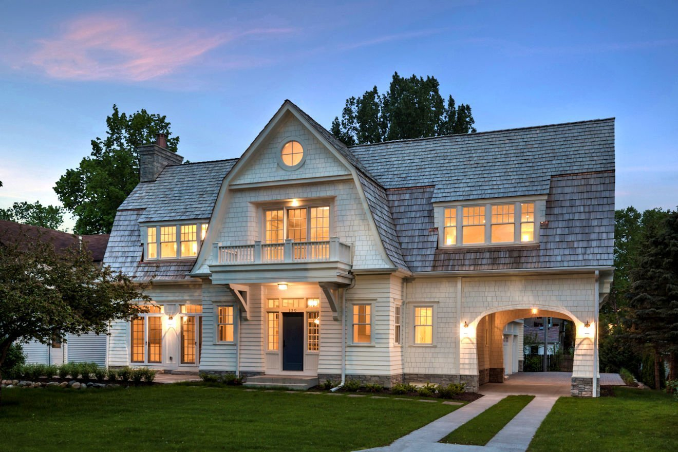 Excelsior Shingle Style home by Charlie & Co. Design
