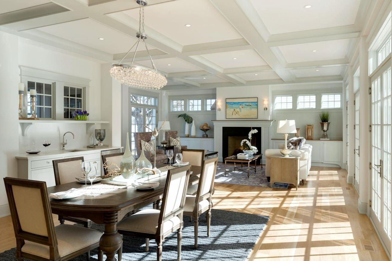 Excelsior Shingle Style living room