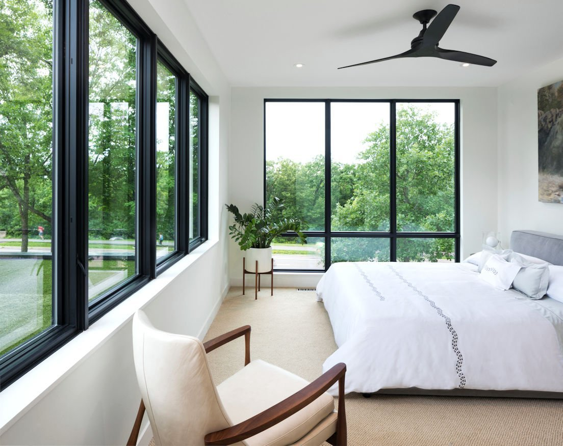 Mississippi Modern white bedroom
