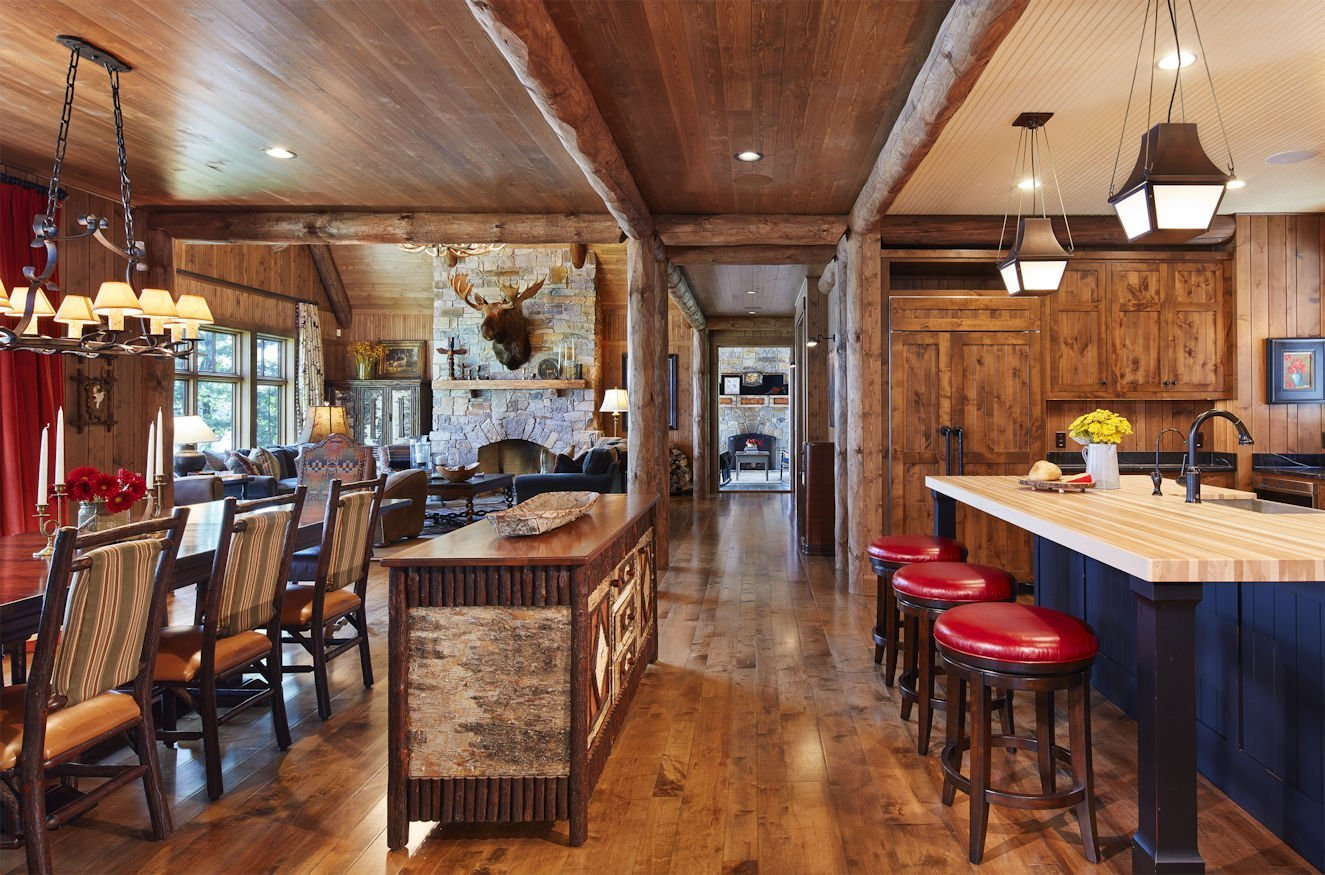 Northern Wisconsin Retreat kitchen