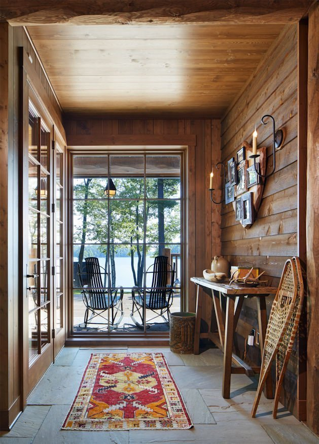 Northern Wisconsin Retreat sunroom