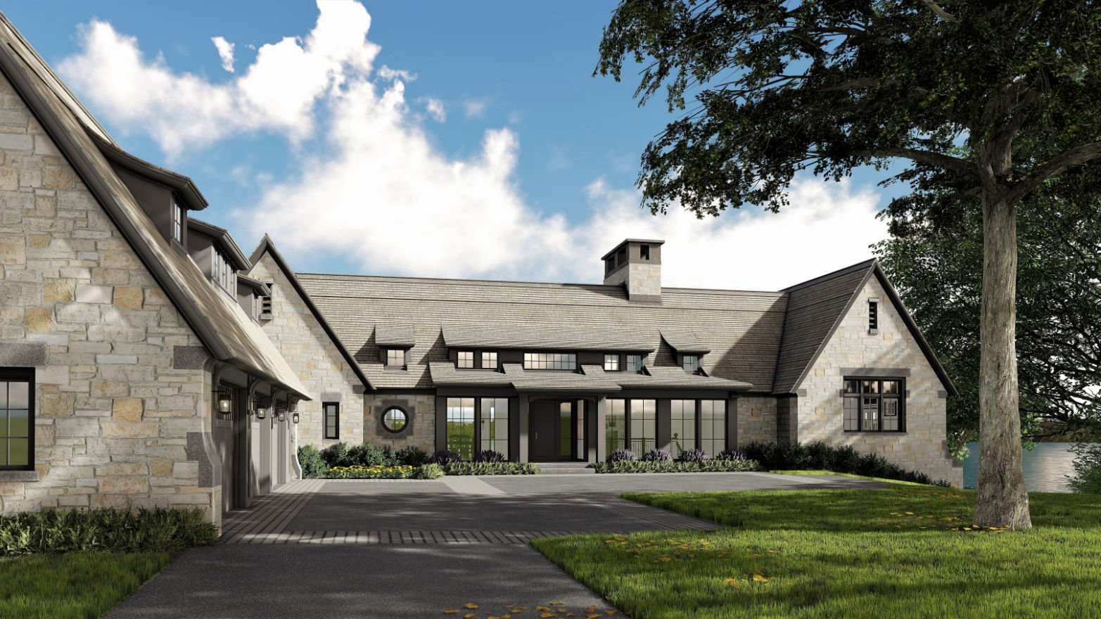 Lakeside Cottage rendering by Colby Mattson