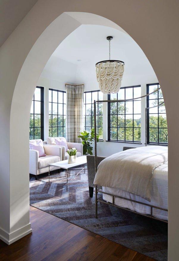 Modern Mediterranean master bedroom