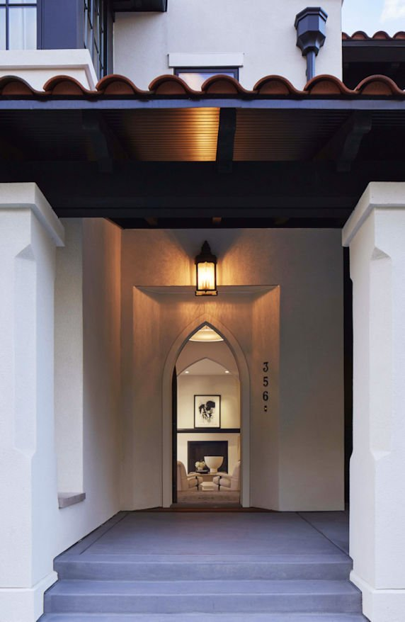 Modern Mediterranean-style home entryway by Charlie Simmons and Company