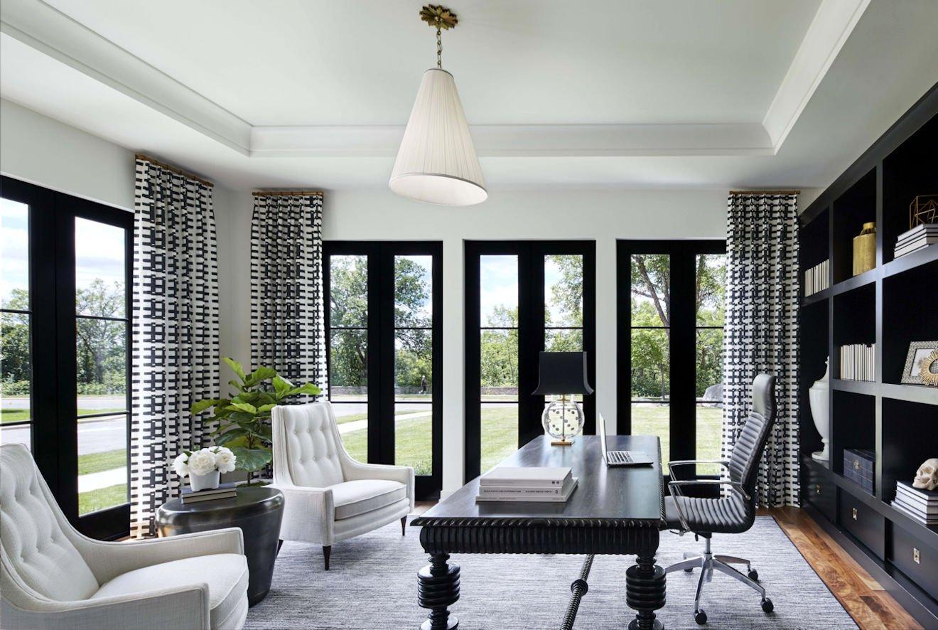 Modern Mediterranean-style home study