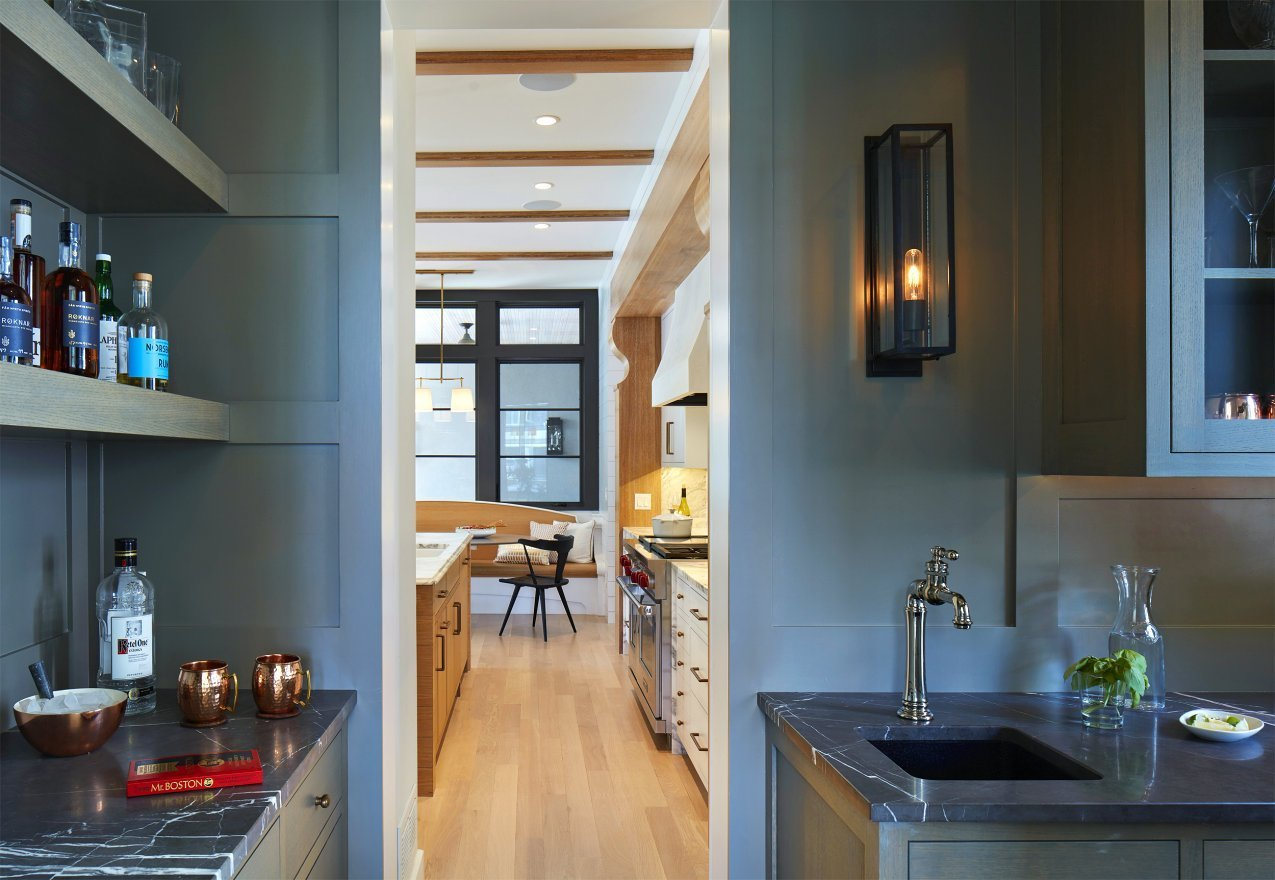 Modern Scottish Cottage kitchen pantry