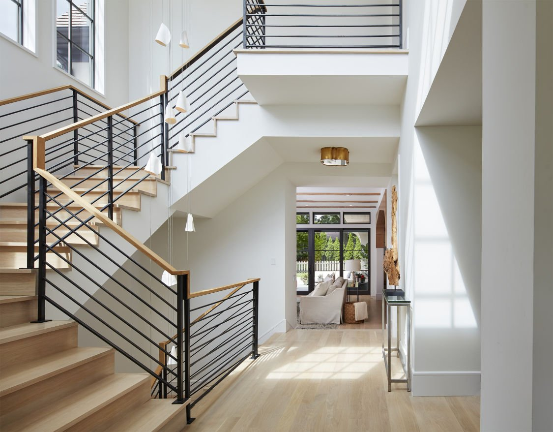 Modern Scottish Cottage stairway