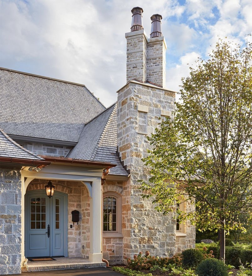 St. Paul French Country chimney
