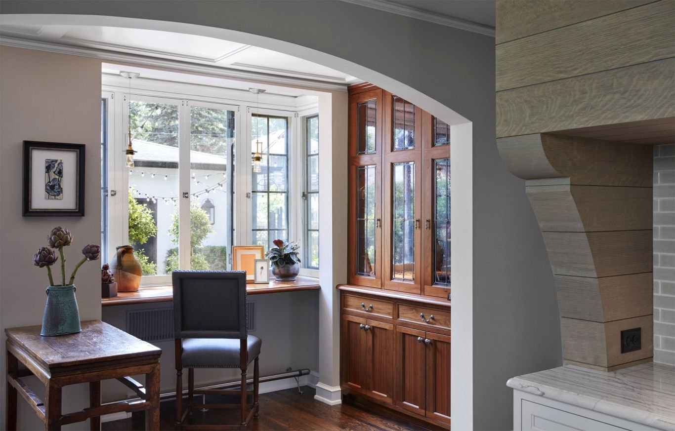 St. Paul Tudor Renovation kitchen nook