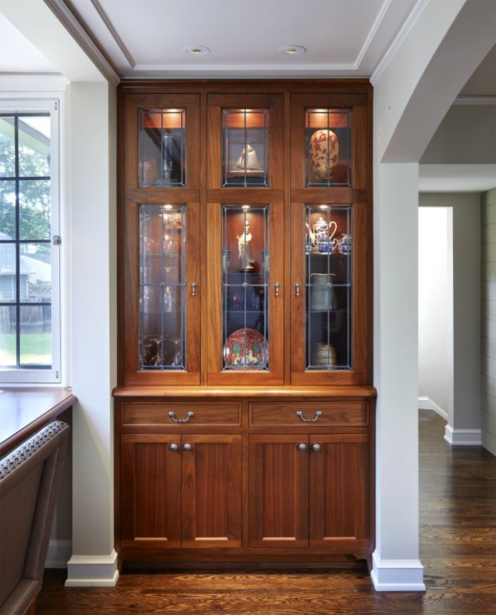 St. Paul Tudor Renovation built-in cabinet