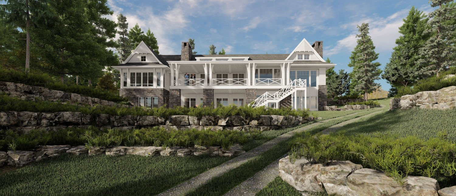 Whitefish Retreat draft renderings by Charlie & Co. Design
