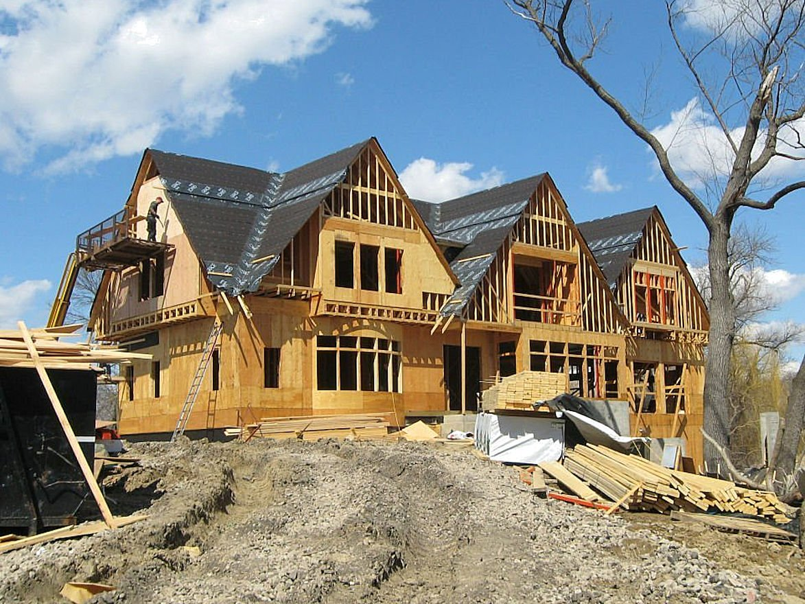 Minnetonka Shingle Style home under construction