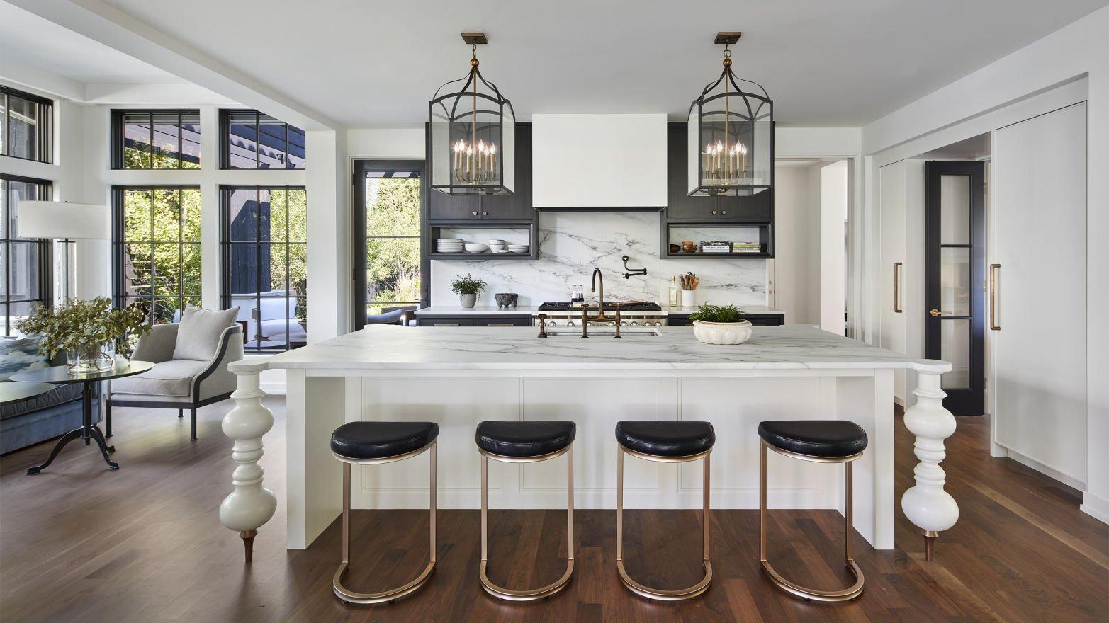 kitchen in Mediterranean Addition by Charlie & Co. Design
