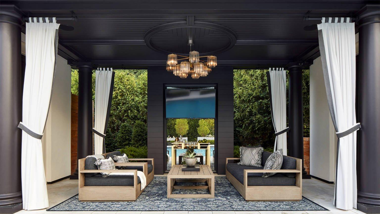 cabana interior by Charlie & Company