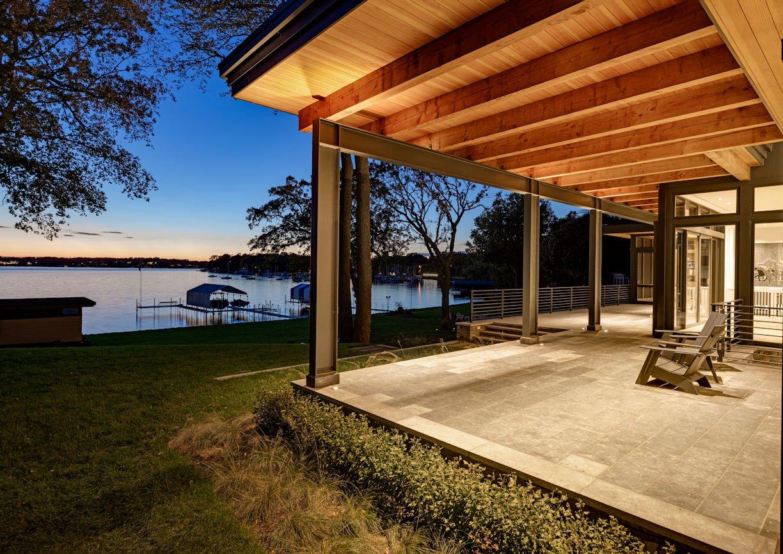 patio at Modern Montana Retreat