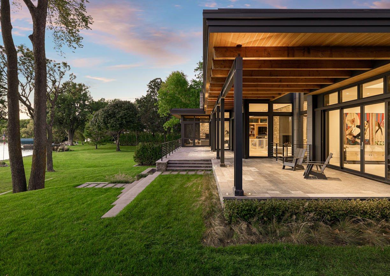 backyard in Modern Montana Retreat