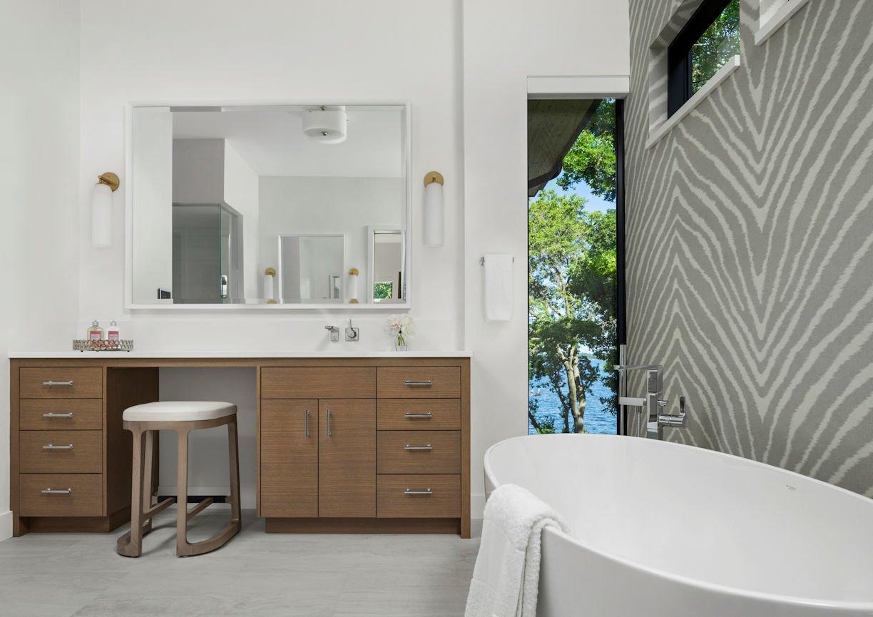 master bathroom in Tonka Bay Modern home