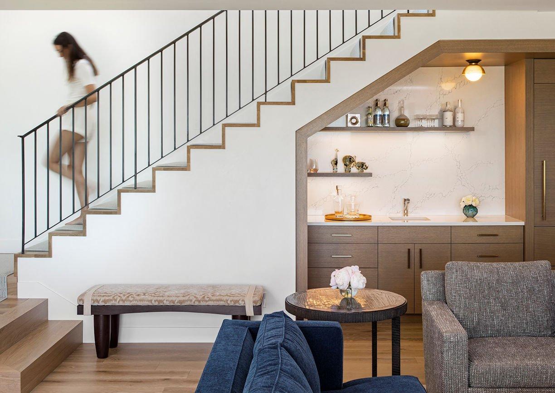 stairway in Tonka Bay Modern home