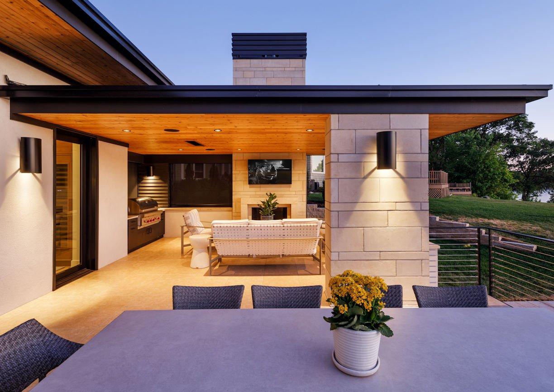 patio for Tonka Bay Modern home