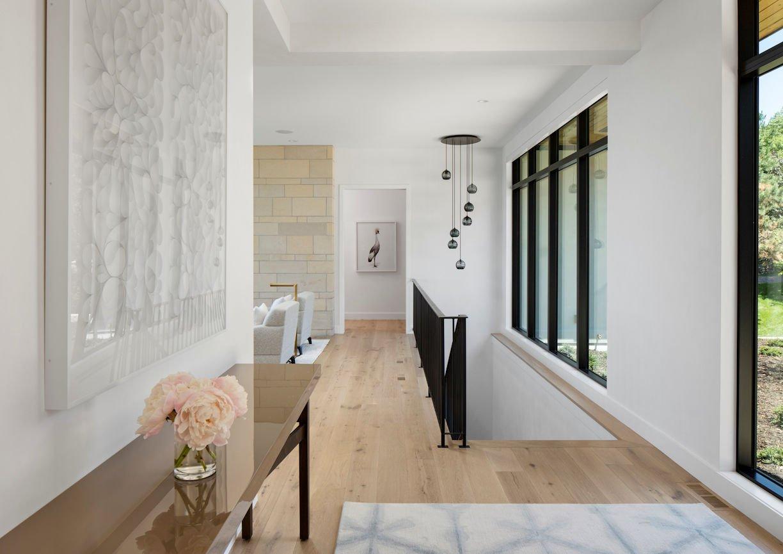 foyer in Tonka Bay Modern home